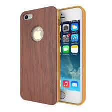 Cheap iPhone 5S Case Slicoo Bamboo Wood Slim Covering Case for