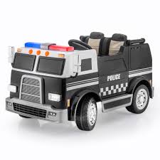 SPORTrax Big Rig Rescue Kid's Ride On Police Truck, 4WD, Battery ... Little Riderz 12 V Kids Camo Ride On Truck With Mp3 Led Lights Shop Costway 12v Jeep Car Rc Remote Control W Amazoncom Mega Bloks Cat 3 In 1 On Dump Toys Games Tonka Mighty Electric Australian Toy Kid Trax Red Fire Engine Rideon Tonka Ride On Mighty Dump Truck For Kids Youtube Power Wheels Ford Lil F150 6volt Operated Buy Tikes Spray Rescue Online Pink And Purple Princess Cozy Foot To Floor Bloks In Push Along Sitride Toy