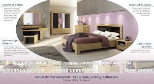 schlafzimmer komplett set d lipik 9 teilig teilmassiv farbe eiche schwarz