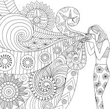 Download Doodles Design Of A Photographer Girl Taking Photo For Coloring Book Adult Stock Vector