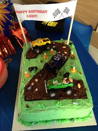 Truck Cake | Jodie B Cakes And Cookies Creative Cakes Semi Truck Cake School Of Natalie Bulldozer With Kitkats Garbage Cakes Decoration Ideas Little Birthday For Dump Sheet Tutorial My 1st Punkins Shoppe Fire With Monster 9x13 Monster Truck Cake Pinterest Hot Wheels Cakecentralcom Hunters 4th Its Always Someones Blakes 5th Bday Youtube
