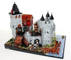 the siege of harfleur brickbuilt lego moc entering harfleur