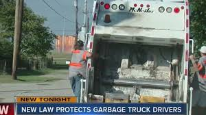 100 Garbage Trucks In Action New State Law Adds Garbage Trucks To Existing Slow Down To Get