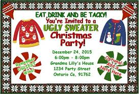 Ugly Sweater Christmas Party Invitations For Invitation Template Has Surprising And Ideal 48