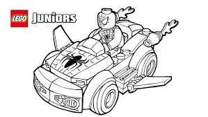 Lego Coloring Pages Spiderman Printable Archives Best Page Drawing