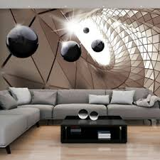 details zu vlies fototapete 3d kugel tunnel stahl braun tapete wandbilder wohnzimmer