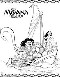 Disney Movie Moana Coloring Book Pages And Official Trailer