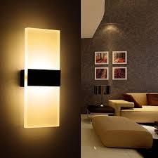 modern led wall l acryl metal home lighting bedroom