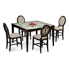 Value City Furniture Kitchen Table Chairs by Cosmo Counter Height Table And 4 Chairs Merlot Value City