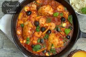 plat de cuisine plat méditerranéen au poulet et crevettes amour de cuisine
