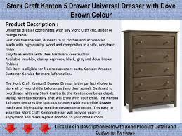 Storkcraft Dresser Change Table by Stork Craft Kenton 5 Drawer Universal Dresser With Dove Brown