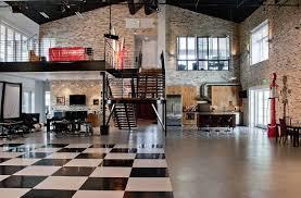 Studio Apartment Kitchen Ideas Modern Stil Loft Studio Apartment With Black White Carpet