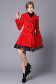 latest desigms of fetching red winter coats for stylish girls