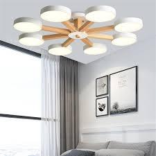 nordic loft holz led kronleuchter lichter macaron lenschirm decke le indoor holz le für esszimmer kinder schlafzimmer dekor