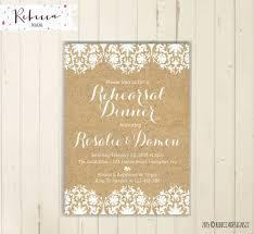 Rehearsal Invitation Brunch Tea Party Kraft Paper Rustic Wedding Baby Shower Invite 180