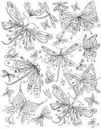 Butterflies Dragonflies Free Coloring Page Download For Adults And Several More Very Nice Pages