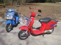 Blue Belle And Old Red Our Next Scooter Was The 1984 Honda NB50 Aero 1983 Added About A Year Later