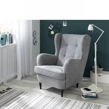 sessel oskar grau ohrensessel polstersessel relaxsessel wohnzimmer stube