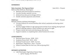 High School Student Resume Objective Example Profesional For Amusing Sample Templatent In Examples Of Resumes