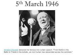 Churchills Iron Curtain Speech by Websites U2026 Thisday Aspxhttp Encarta Msn Com Encnet Features On