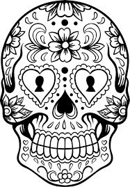 Extra Large Sugar Skull Version 6 Wall Vinyl Decal Sticker Art Tons Of Skulls To Color