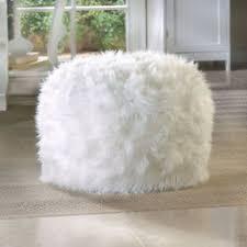 White Fur Bean Bag