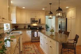 Wonderful Cream Kitchen Cabinets With Granite Countertops Ideas Black