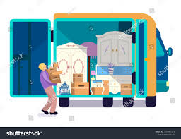 100 Packing A Moving Truck Man Full Furniture RoyaltyFree Stock