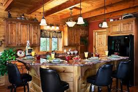 log cabin kitchen ideas home and dining room decoration ideas