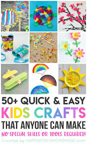 Art And Craft Work From Waste Materials For Kids Lovely 50 Quick Easy Crafts That Anyone Can Make Happiness Is