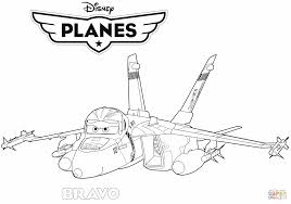 Disney Planes Jet Fighter Bravo Coloring Page For Pages