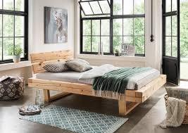 bett doppelbett balkenbett holzbett massiv schlafzimmer balken versch größen