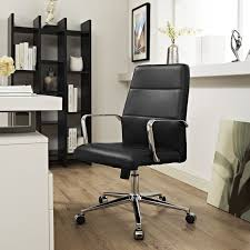 Modway Black Aluminum/Steel Stride Mid-back Office Chair With Vinyl ...