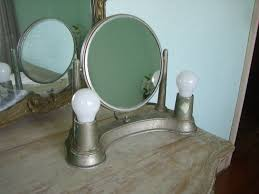 Makeup Vanity Table With Lights And Mirror by Distressed Makeup Vanity Table With Portable Lighted Mirror