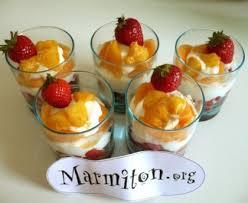 dessert aux fruits d ete verrines aux fruits d été recette de verrines aux fruits d été