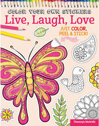 Coloring Book Live Laugh Love Sticker By Thaneeya McArdle