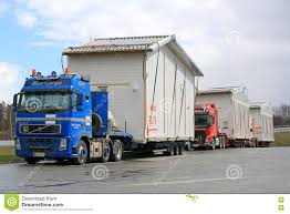 100 House Trucks Fleet Of Transport Modules Editorial Stock Photo