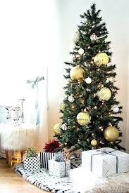 Walmart Real Trees Small Skinny Tree With Large Gold Ornaments Great For Big Impact Best Cost