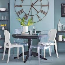 Bold Black And Blue Dining Room