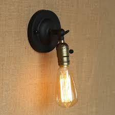retro mini wall lights knob switch warehouse loft american country