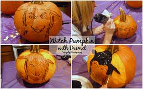 Pumpkin Carving With Dremel by Witch Pumpkin Using A Dremel