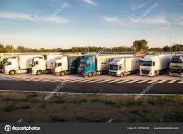 100 Overnight Trucking Belgium Jun 2017 Truck Parking E17 Highway Stock