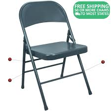 100 Blue Plastic Folding Chairs Slate Metal EDPI903MNAVY Metal Chair