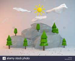 Polytree Christmas Trees Instructions by 3d Low Poly Cartoon Style Stock Photos U0026 3d Low Poly Cartoon Style