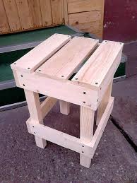Stool Made Of Pallets Wood