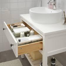 hemnes waschbeckenschrank offen 1 schubl weiß 82x48x76 cm