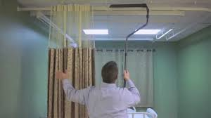 Cubicle Curtain Track Manufacturers by The On The Right Track Cubicle Curtain And Grabber Youtube