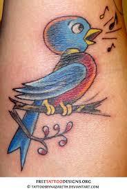 Sailor Jerry Singing Bird Tattoo