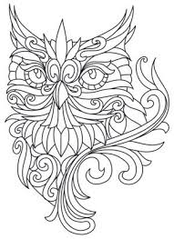 Baroque Owl Coloring Pages Big
