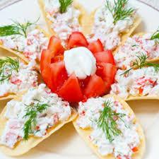 crab canapes crab cheese canapes